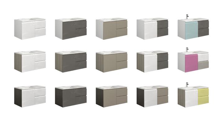 Muebles de ba o go combina como quieras grup gamma - Pintar muebles lacados en blanco ...