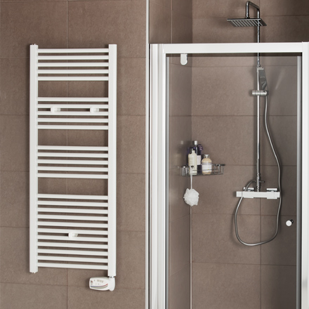 Radiador de baño Suki eléctrico blanco