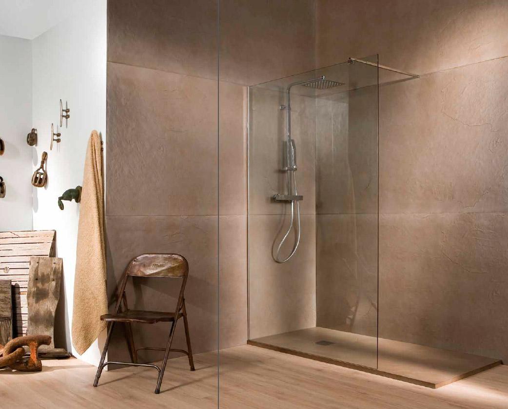 Paneles de sustituci n de ba era por ducha grup gamma for Colgadores de toallas para ducha