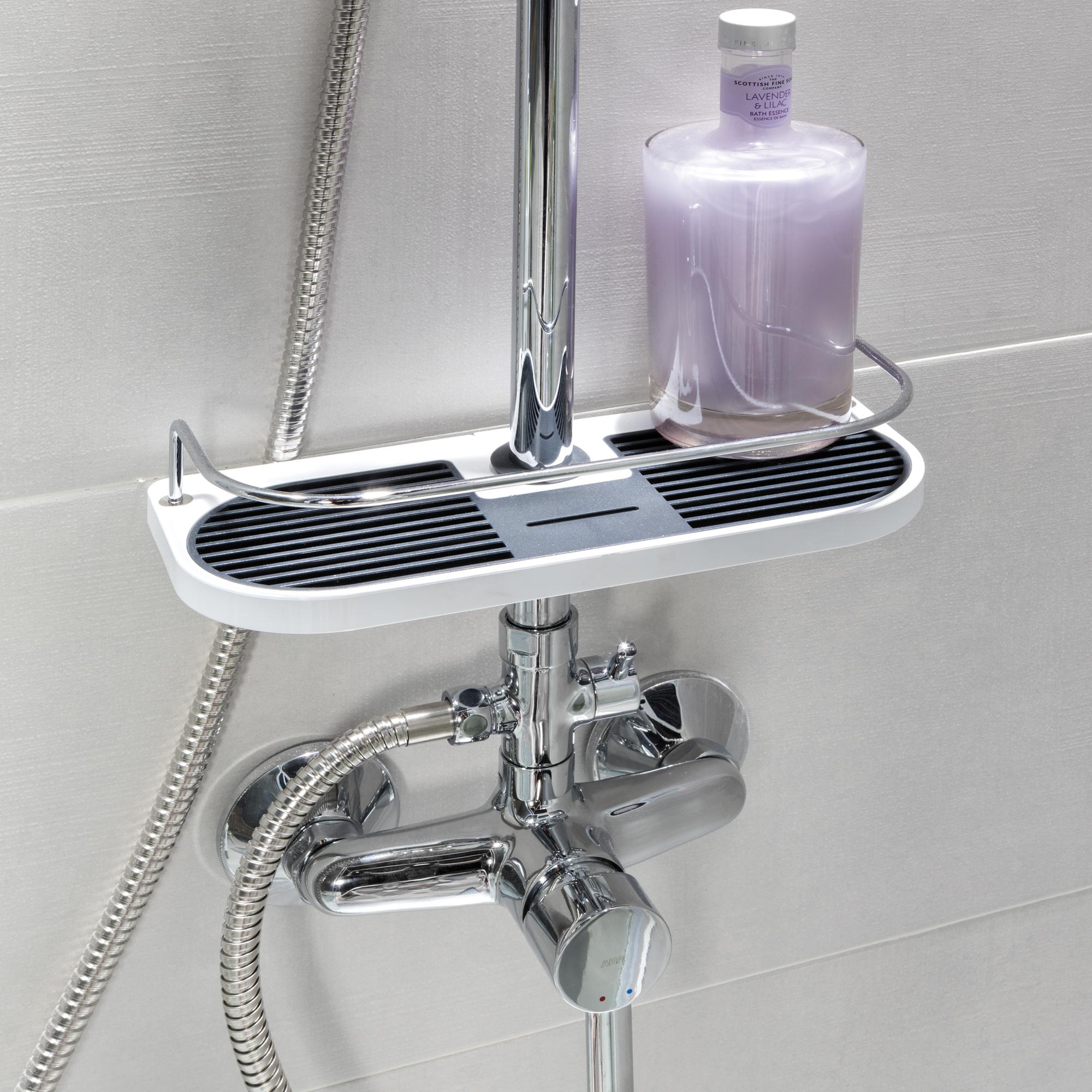Cooper el estante para ducha adaptable grup gamma for Estanterias ducha bano