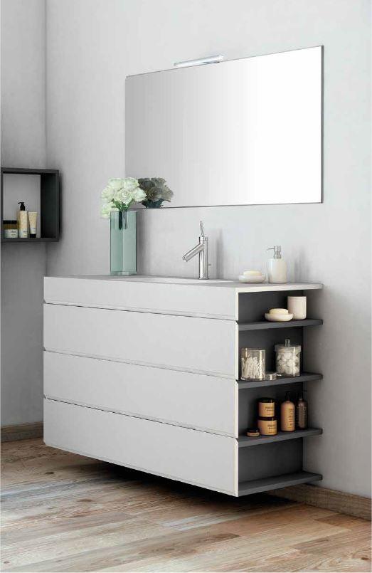 mueble modular te permite añadir estanterías al lateral del muebles
