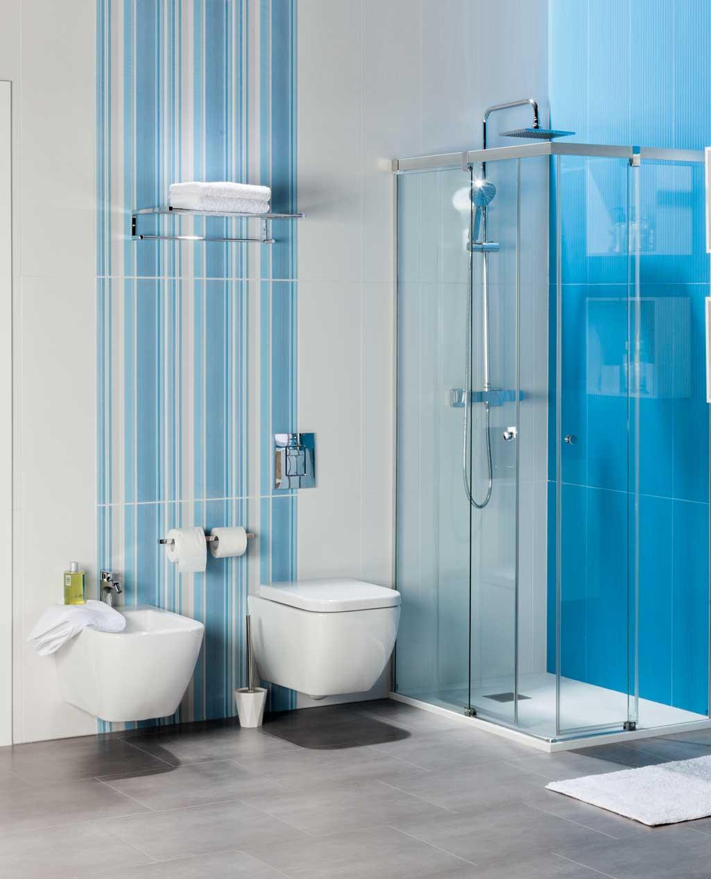 Ba o pequeno azulejo grande - Papel para azulejos de bano ...
