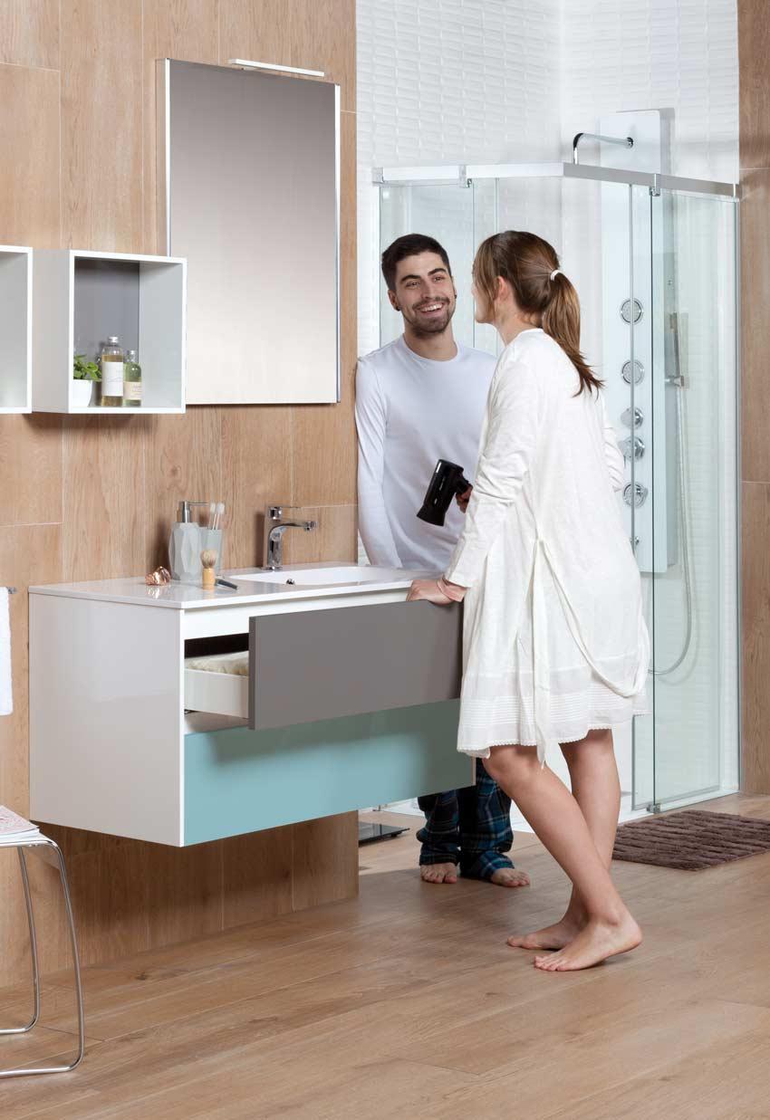 Mueble de baño ZOOM: versátil y práctico - Grup Gamma
