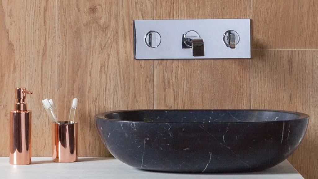 2 estilos para el ba o r stico o minimalista grup gamma - Encimeras de lavabo de resina ...