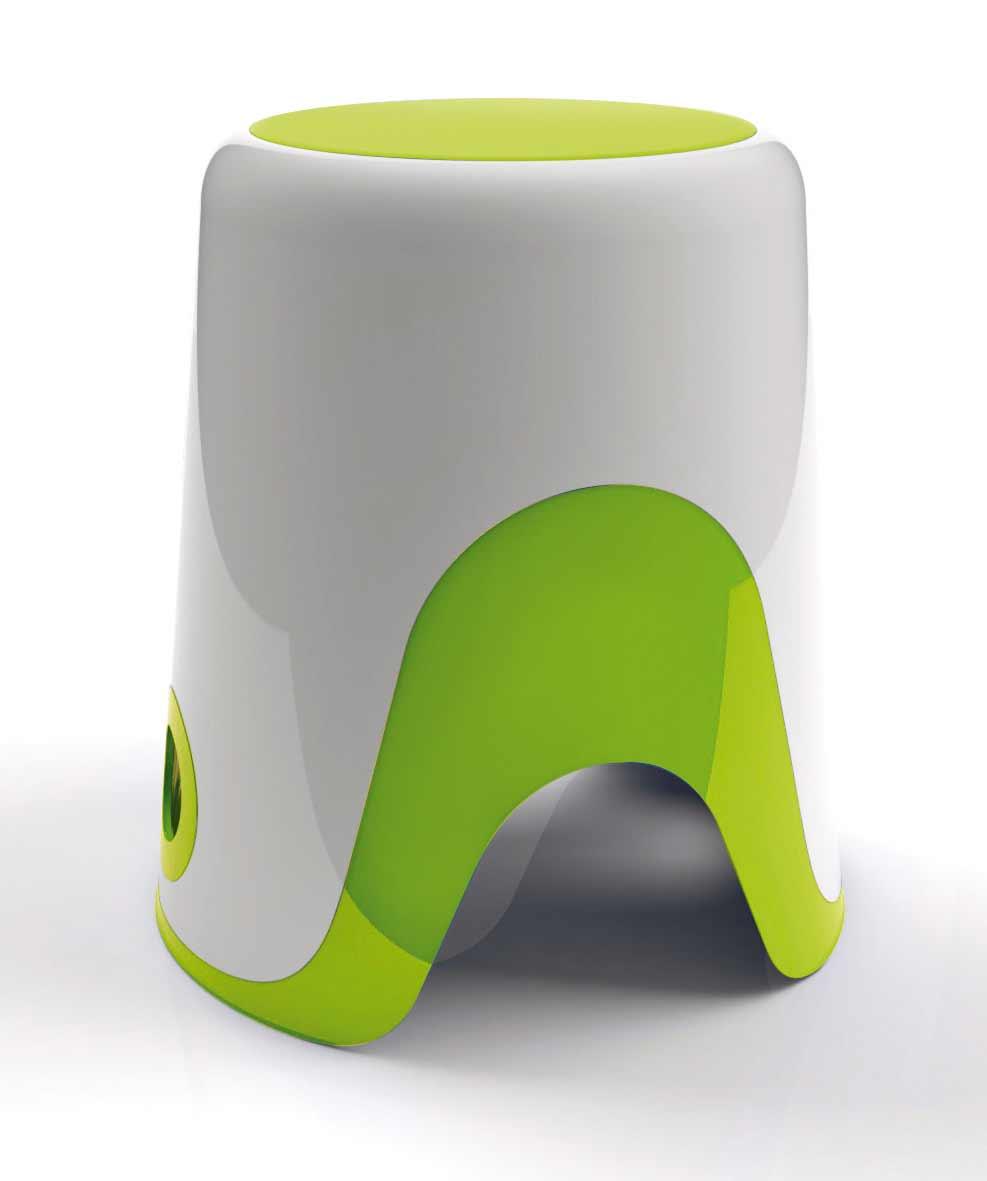 Taburete de baño WENDY en color verde. Para que el baño sea seguro para los niños.