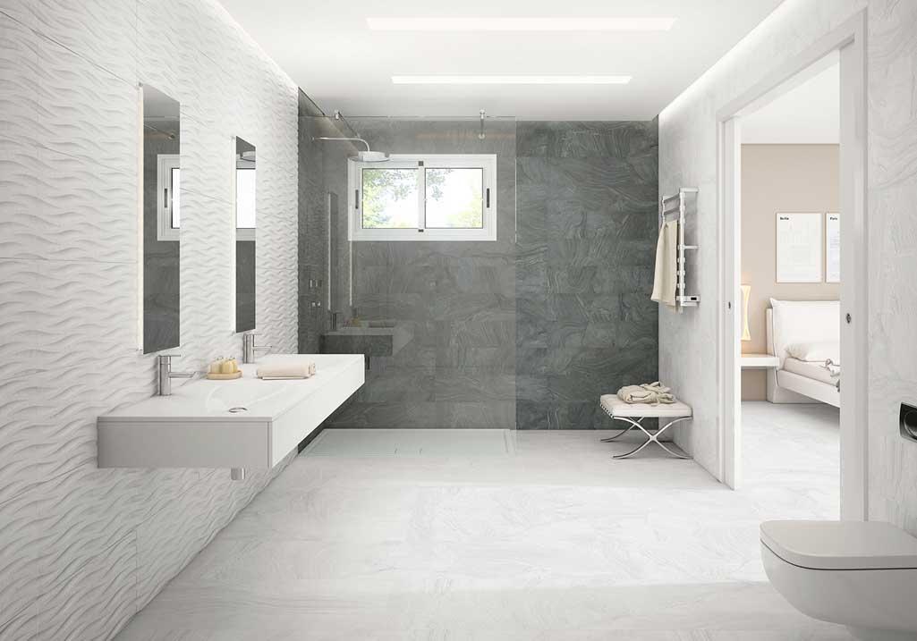 Baño estilo-nórdico en colores-blanco-y-gris.