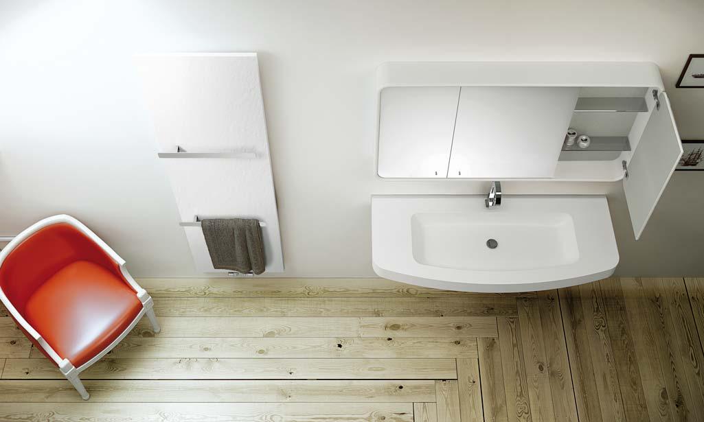 Baño-estilo nordico-con suelo de madera y lavabo en blanco.