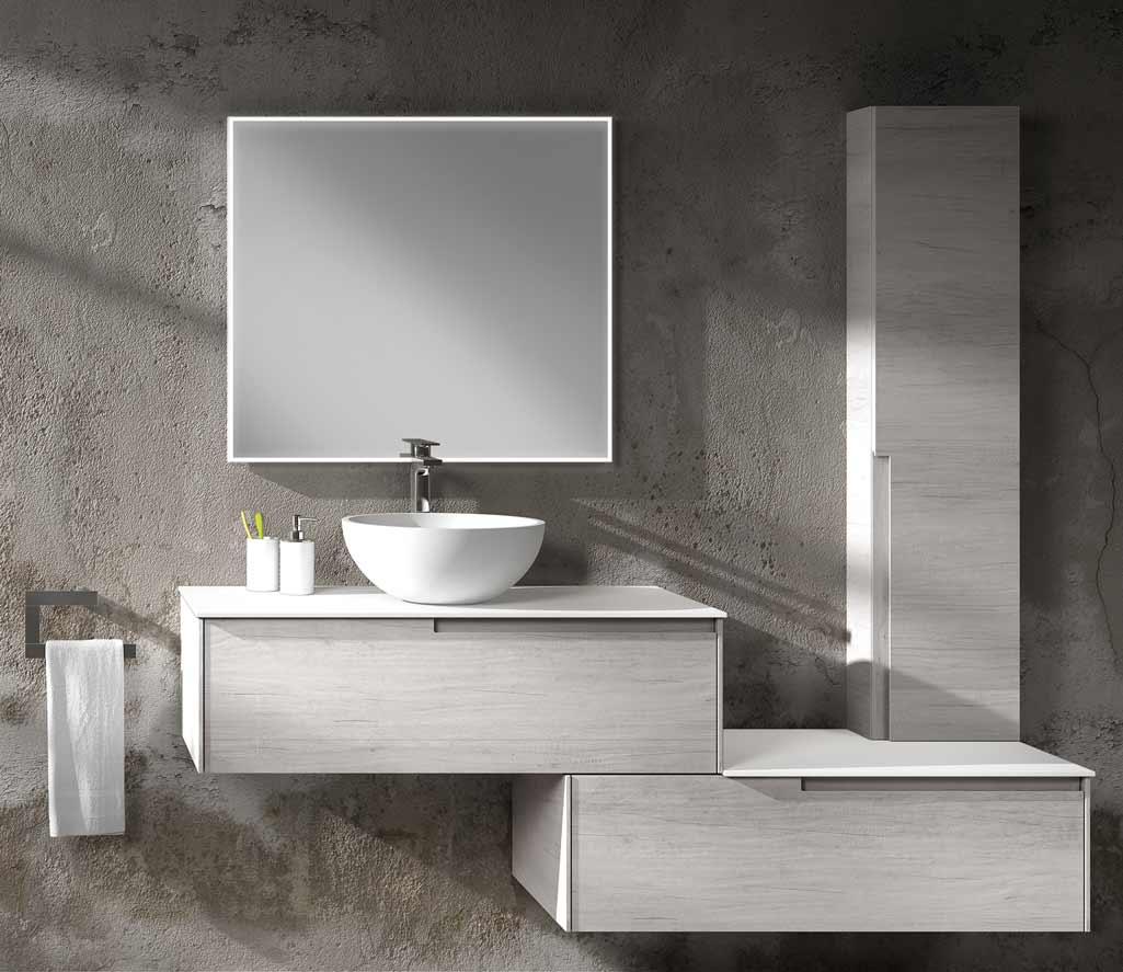 Baño estilo industrial de Aja con paredes en cemento, sin azulejos ni revestimiento.