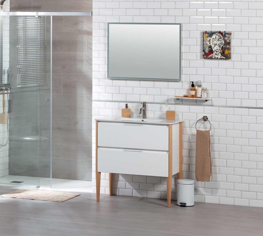 Mueble de baño NAYA, macizo y compacto - Grup Gamma