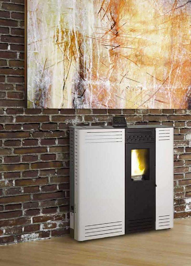 Estufas de pellet compactas para los pasillos de casa - Estufas para casa ...