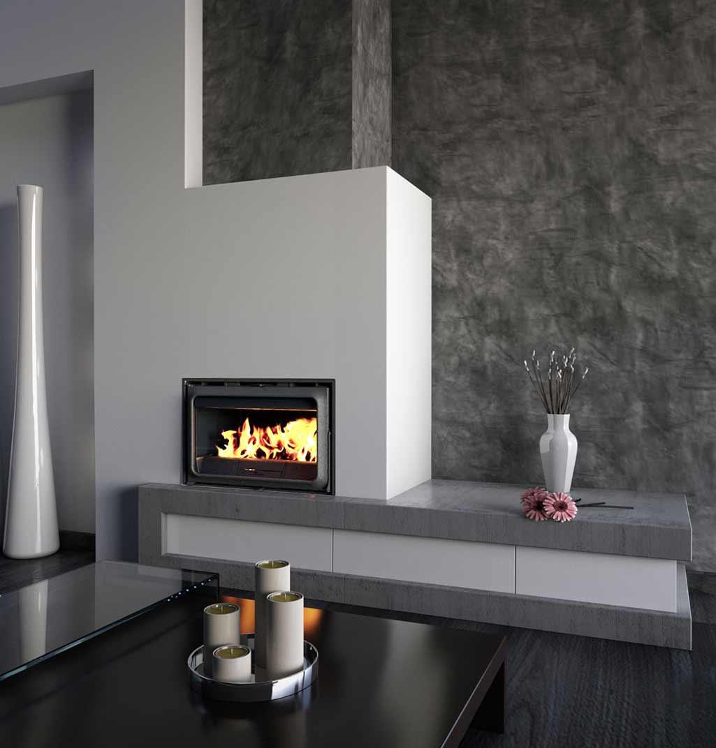 Chimeneas y estufas calor de hogar grup gamma - Decoracion salon con chimenea ...