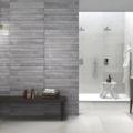 Must del baño con un baño completo con la cerámica NATIVE en gris antracita.