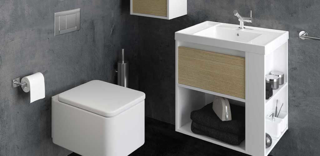 Aseos de cortes a sorprende a tus invitados gamma azara for Lavabos pequenos con mueble