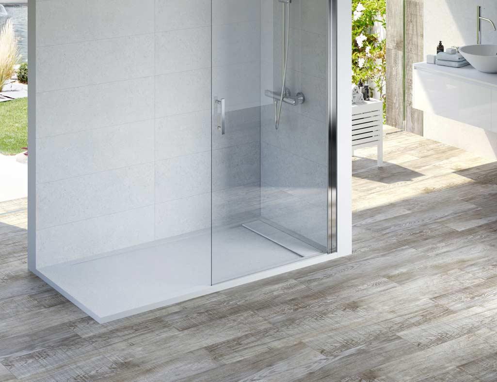 Plato de ducha INN antideslizante, ideal para cuartos de baño para gente mayor.