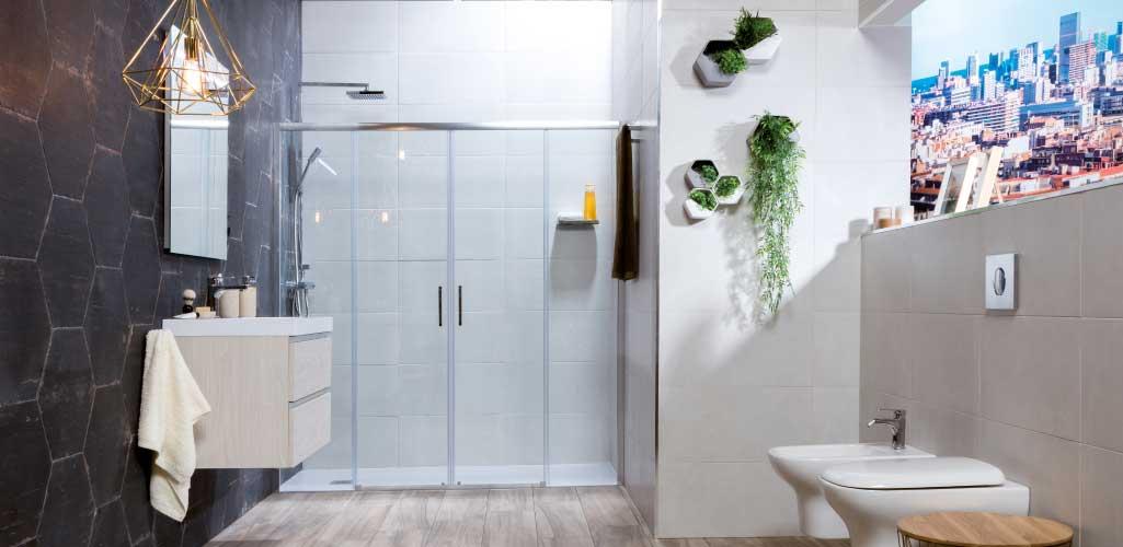 Tendencias cuarto de baño donde aparece un cuarto de baño completo con algunas de las tendencias para 2017.