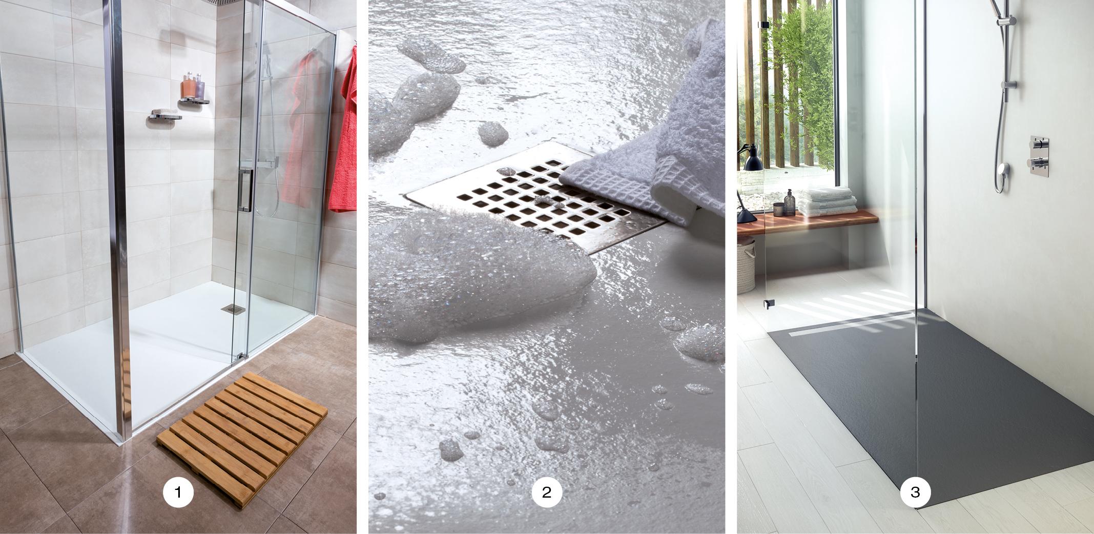 Para una ducha segura plato de ducha antideslizante for Plato de ducha flexible