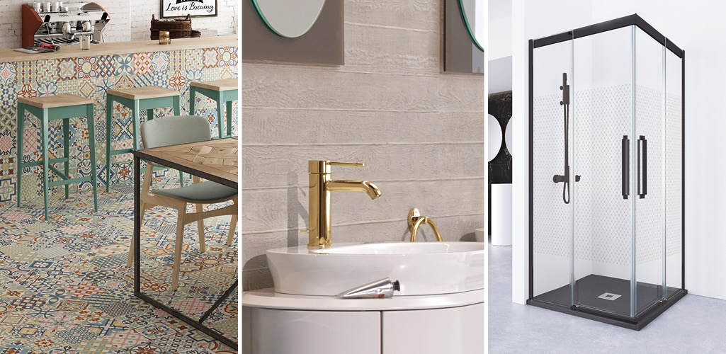 tendencias para baño, colores para baño, materiales para baño