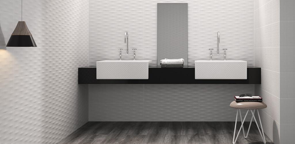 Baños en blanco y negro