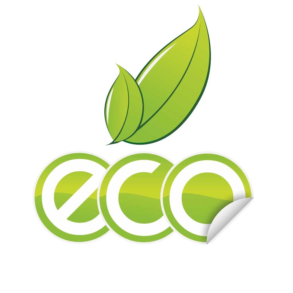 Baño ecológico símbolo palabra Eco.