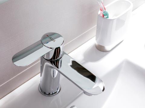 Tendencias grifos baño donde aparece un grifo monomando de la marca AUA de Grup Gamma.