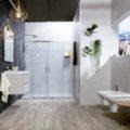 Tendencias cuarto de baño donde aparece un cuarto de baño completo con las tendencias de 2017.