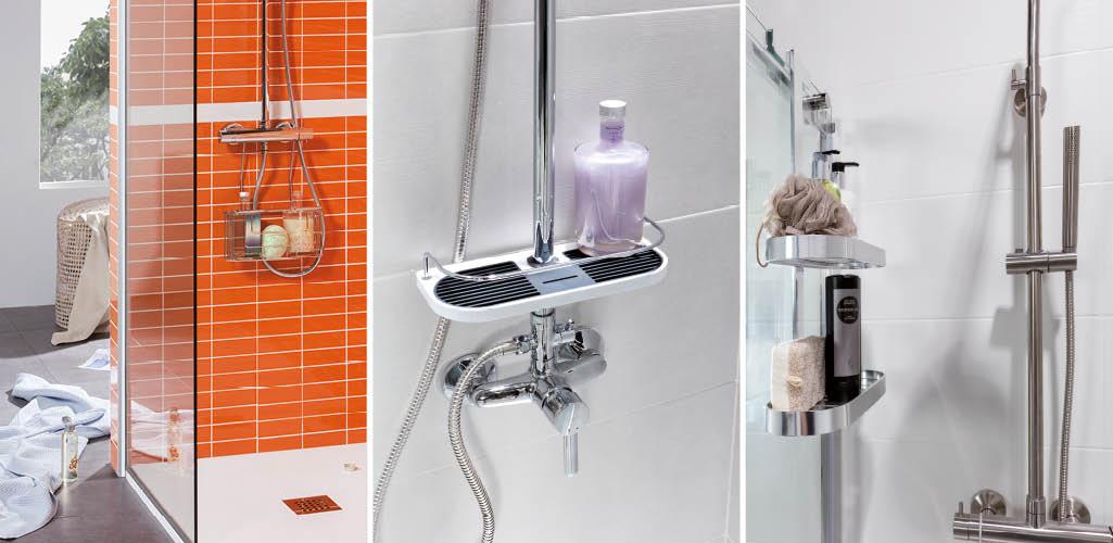almacenaje en la ducha, accesorios ducha, organizar baño