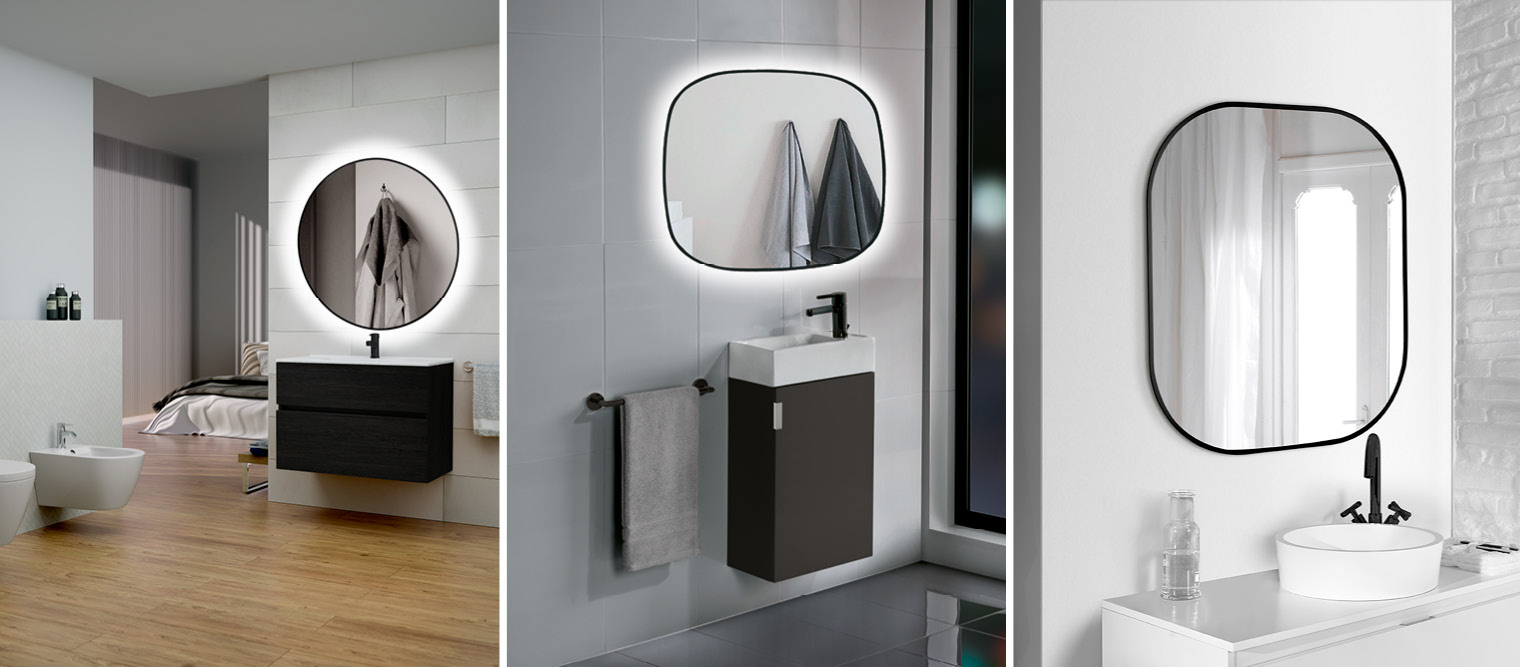 espejos para baño, espejos redondos para baño, espejos decorativos
