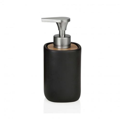 Dispensador cerámica negro/acacia