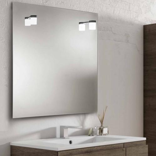 Espejo de baño LED Baho DENO negro 80x80 cm