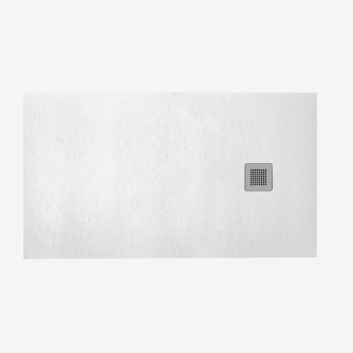 Plato HIDRA II de ducha blanco con rejilla y válvula 70x120 cm