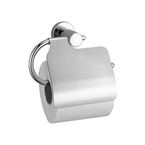 Portarollos individual para el baño Baho FLASH con tapa cromado