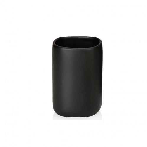 Portacepillos cerámica negro i acacia