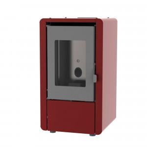 Estufa de pellets Eider PETIT 6 kW burdeos programable y modulable