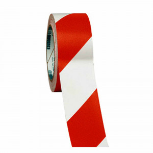 Pz. cinta de señalizacion rojo y blanco 200mt