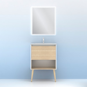Conjunto Amizuva NARA blanco roble arenado 60 cm