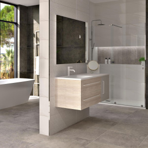 Conjunto LUCID roble gladstone blanco de 120 cm
