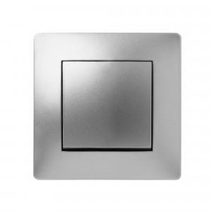 Pz.conmutador Famatel 9402 empotr.10a-250v aluminio