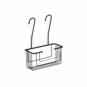 Contenedor de ducha para colgar Baho PANIER negro mate 26,8x14,8 cm