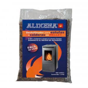 Deshollinador 2 en 1 para estufas y calderas de pellet Alixena 1500 gr