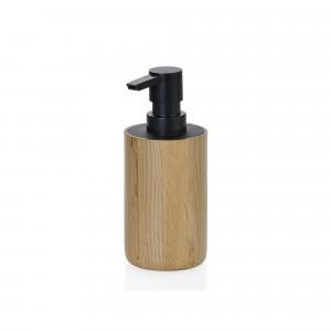 Dispensador de jabón Andrea House roble negro 7x16,5 cm