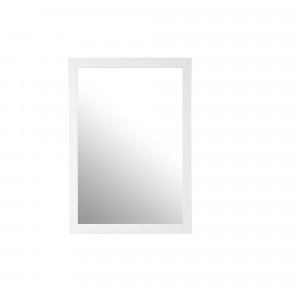 Espejo rectangular marco madera blanco 60x90 cm HAFA