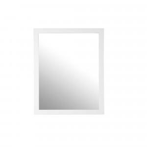Espejo rectangular marco madera blanco 70x90 cm HAFA