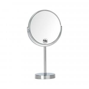 Espejo redondo de pie de 10 aumentos