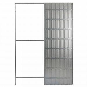 Estruct.correderas new space 700x2100-100 pared placa yeso