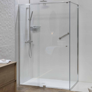 Mampara CORE de ducha frontal transparente 90 cm