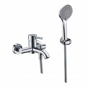 Grifo RONDO de bañera y ducha cromo con accesorios