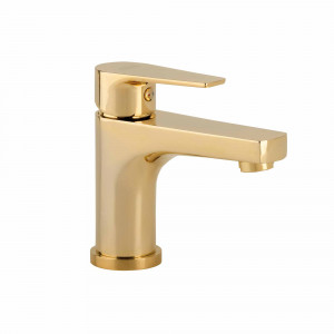 Grifo O2 de lavabo dorado