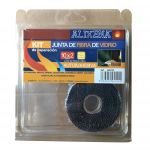 Junta de fibra de vidrio plana autoadhesiva de Alixena 10x2 mm