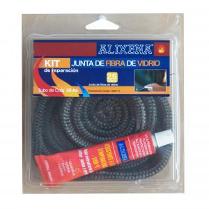 Junta de fibra de vidrio redonda trenzada de Alixena 6 mm