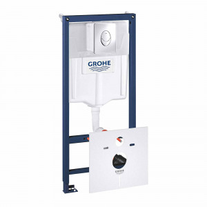 Kit de estructura y cisterna Grohe doble descarga pulsador redondo